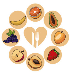 Food healthy fruits nutrition image vector