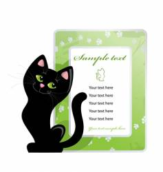 frame and black cat vector image