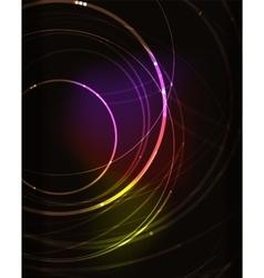 Glowing circle in dark space vector