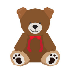 isolated geometric teddy bear vector image vector image