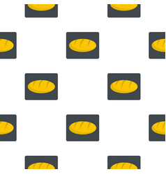 Loaf bread pattern flat vector