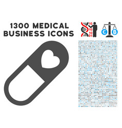Love granule icon with 1300 medical business icons vector