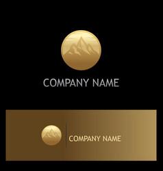 mountain gold logo vector image