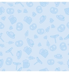 Oktoberfest Beer Festival Seamless Pattern vector image