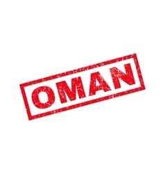 Oman rubber stamp vector