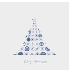Paper snowflakes christmas tree vector image vector image