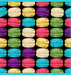 pattern with macarons vector image vector image