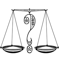 Question weighing scale vector image