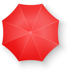 Red Umbrella Isolated on white vector image vector image