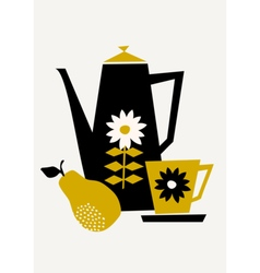 Retro Coffee Set vector image
