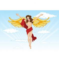 sexy angel illustration vector image vector image