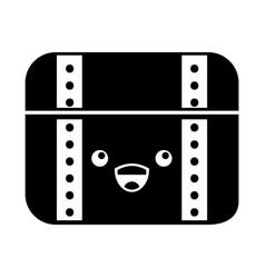 Treasure chest game kawaii character vector