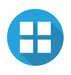 web menu icon vector image