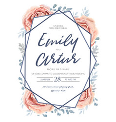 wedding invite invitation floral flower card vector image