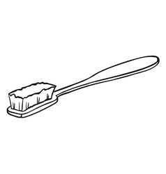 A cleaning brush vector