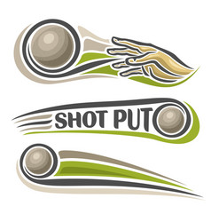 Shot put vector