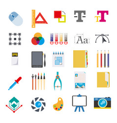 Stationery and tools for writing on computer vector