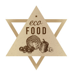 Hand drawn eco food background vector
