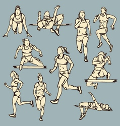 Female runner sport vector