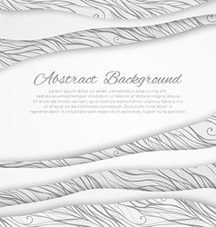 Abstract background with doodle ornament vector
