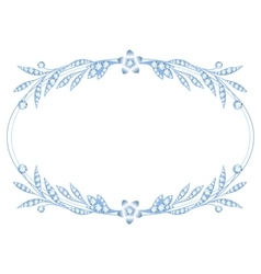 Silver brooch jewelry vector