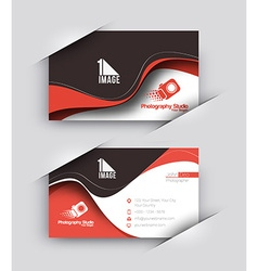 Photography studio business card set vector