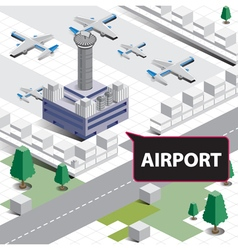 Map isometric airport vector