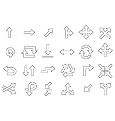 Arrow icons set vector
