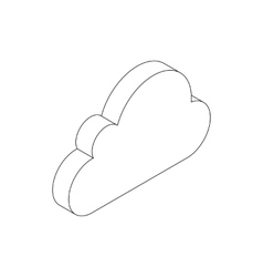 Cloud computing icon isometric 3d style vector