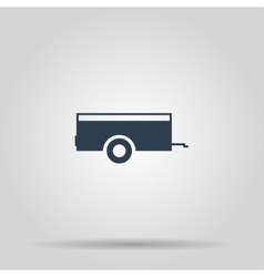 Car trailer icon concept for vector