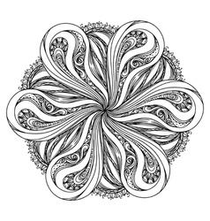 Contour mandala religious design element tattoo vector