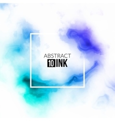 Abstract ink splash liquid blurred smoke vector