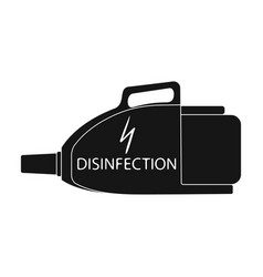 Apparatus for disinfection single icon in black vector