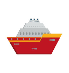Big cruise icon vector