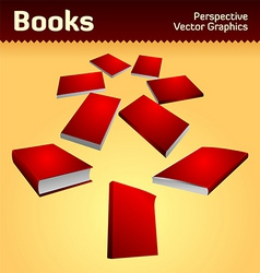 books graphics vector image vector image