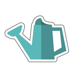 Cartoon watering can garden tool image vector