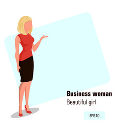 Character beautiful business woman 11 vector