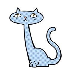 comic cartoon cat vector image