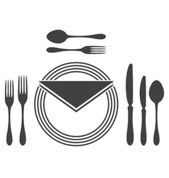 Etiquette Proper Table Setting vector image