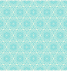 Floral pattern inspired by oriental arabesque vector image