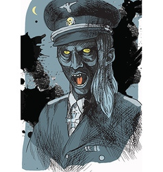 From beyond series officer from the crypt vector
