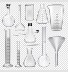 laboratory glassware instruments equipment for vector image