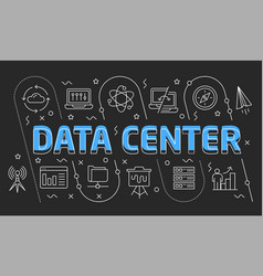linear data center vector image vector image