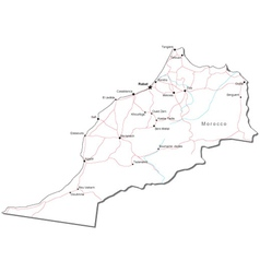 Morocco Black White Map vector image vector image