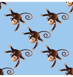 Pattern cheerful monkeys vector