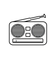Radio music sound dj icon graphic vector