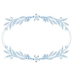 Silver brooch jewelry vector