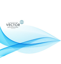Stylish blue wave lines background vector