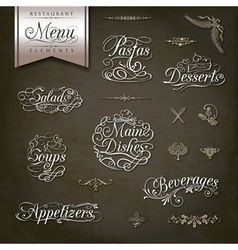 Vintage style restaurant menu designs vector