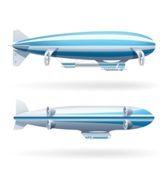 Zeppelin icons set vector
